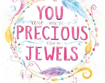 Precious Jewel | Watercolor | Lettering