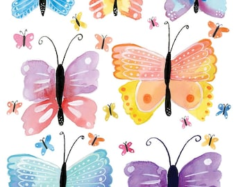 Butterflies | Watercolor