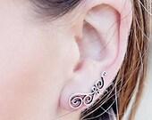 Ear Climbers,Climber Earrings,Ear Cuffs,Ear Crawlers,Boho Earrings,Silver Earrings,Gypsy Earrings,Ear Sweeps,Earring Pins JE103