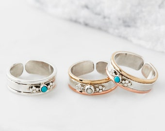Midi Ring,Knuckle Ring,Toe Ring,Adjustable Ring,Gemstone Rings,Birthstone Rings,Boho Rings,Sterling Silver Rings,Mini Ring,Pinkie Ring JR144
