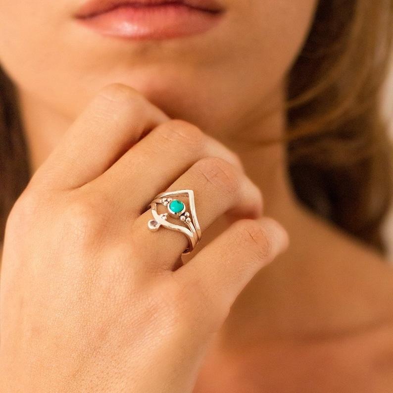 11558b06e Bohemian RingsTurquoise RingsPandora RingsBest Friend   Etsy