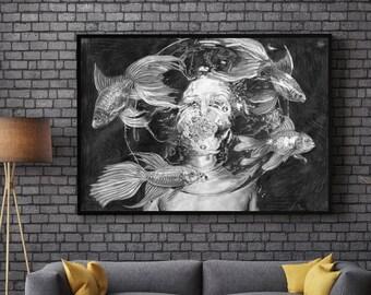 Submerged: Pisces / Aquarius Art Print
