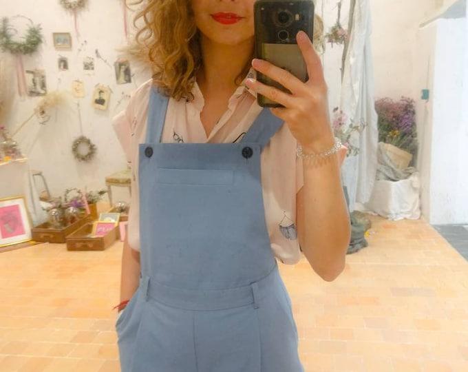 Salopette Salomé pastel bleu