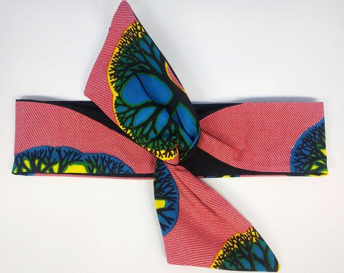 HEADBAND EDDY wax rouge/bleu