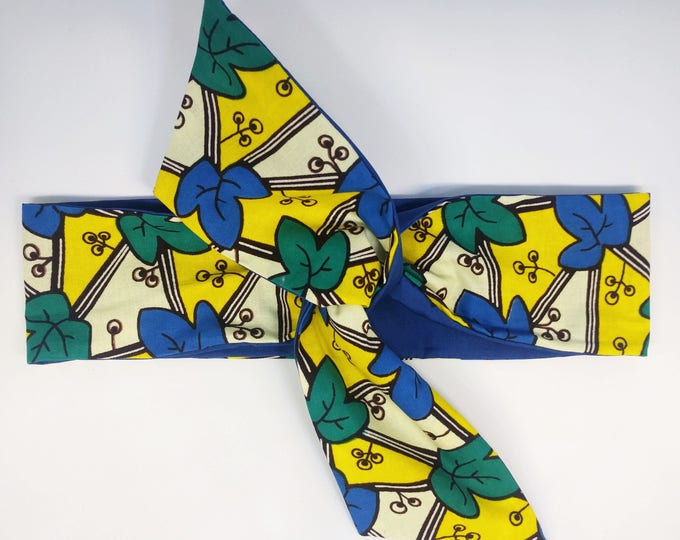 HEADBAND EDDY wax jaune/bleu/vert