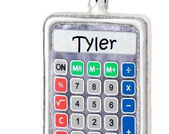 Custom Calculator Ornament, Cute Accountant or Banker Ornament, Custom Business Ornament, Personalized Occupational Ornament