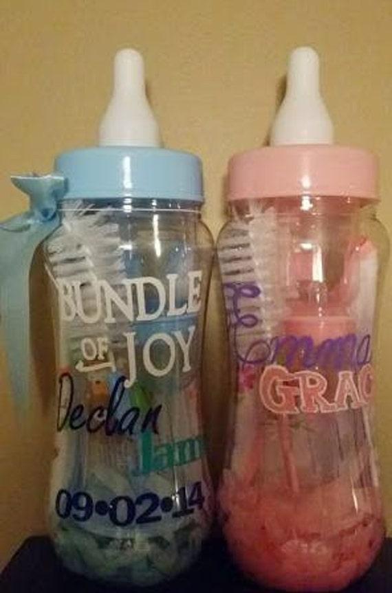 Custom Baby Shower Baby Bottle Bundle Kit Bundle Of Joy Gift Etsy