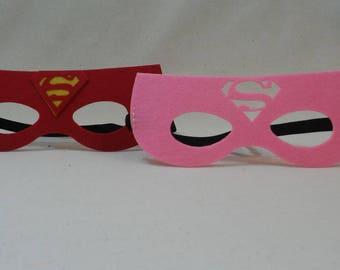 Superman Mask, Supergirl, Superwoman Party Mask Favors
