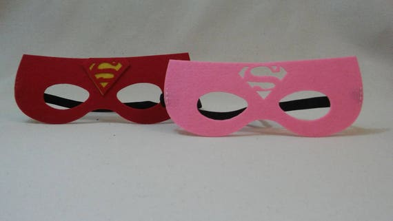 Superman masque supergirl superwoman masque party favors - Masque superman ...