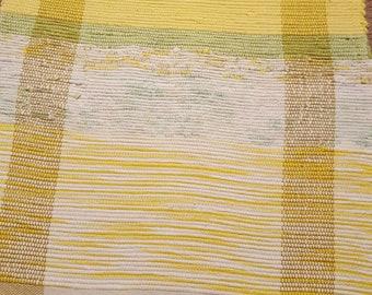 Lemons and Limes Yellow and Green Handwoven Rag Rug