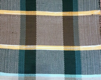 In the Forest Green Handwoven Rag Rug