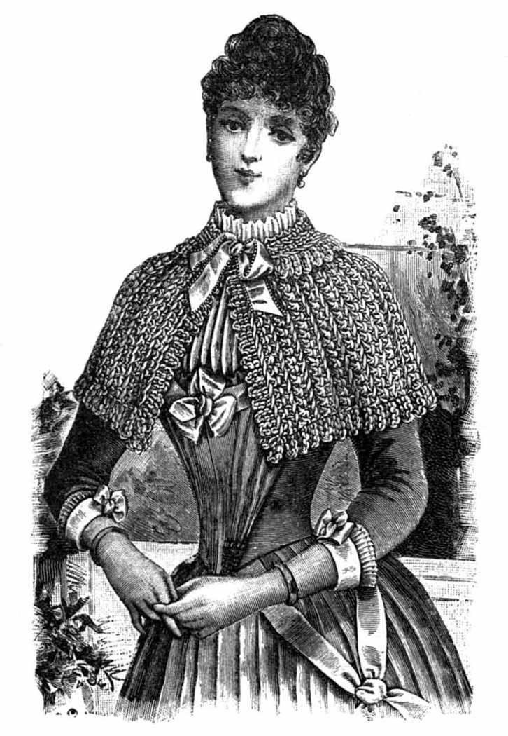 Diy Fancy Nails: Victorian Cape Crochet Pattern DIY 1889 Fancy Lacy Shawl
