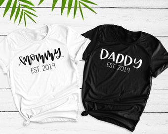 1f4b41da7 Mommy and Daddy Shirt Set, Mom and Dad Shirts, Mom Shirt, Dad Shirt, Family T  Shirts, Pregnancy Reveal Shirt, Pregnancy Announcement Shirt