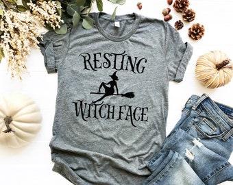 Halloween T Shirt, Resting Witch Face, fall tshirts, Pumpkin Spice Shirt, Fall Shirt, Pumpkin Shirt, Halloween, Hocus Pocus Shirt Women