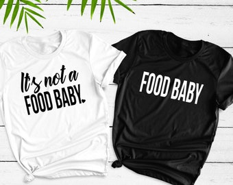 7be2c98750ff It's not a food baby shirt, Food Baby, Pregnancy Annoucement Shirt Set,  Husband and Wife Shirt Set, Mom and Dad Shirt Set, Pregnancy Reveal