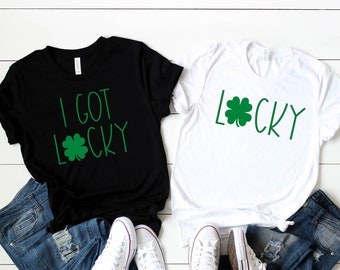 St. Patricks Day Shirt Women, I got Lucky, Lucky,  Let's Get Ready to Stumble, Let's Day Drink, Shenanigan Enthusiast, Couples Shirts