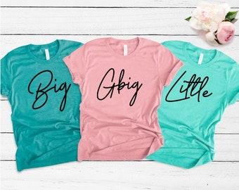 Big Little Reveal Shirts, Big Little Sorority T Shirt, Big Little Reveal, Sorority T Shirts, Big and Little, Custom T Shirts