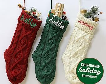 Holiday Stockings, Christmas Stockings, Holiday Decor, Monogram Stocking, Personalized Holiday Stocking, Embroidered Stocking