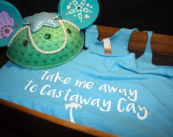 Castaway Cay Racerback Tank Top | Women's Shirt | Disney Cruise Line Inspired | Disney Vacation | Disney Shirt | Disney Tank Top