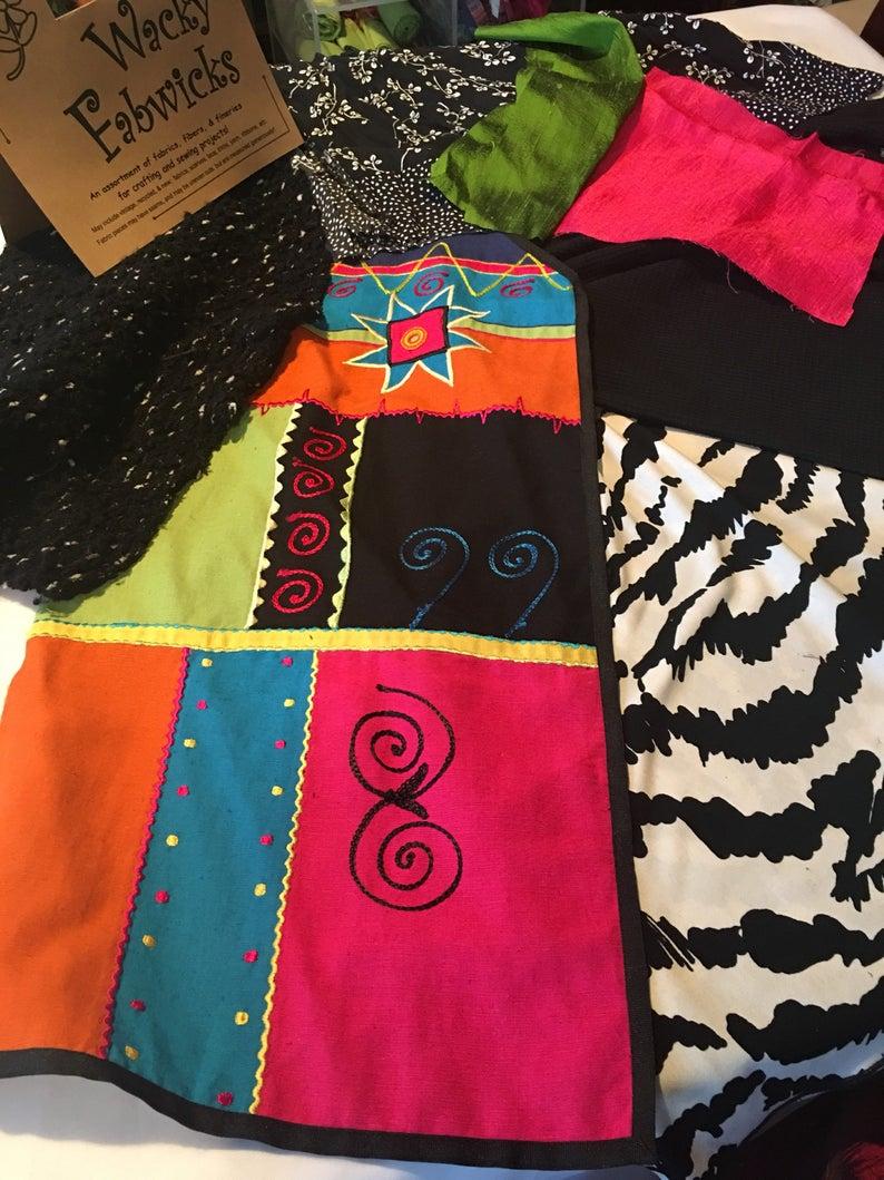 Wacky Fabwicks Fabric Kit Fabric Stash Fabric Grab Bag Fabric Inspiration Kit