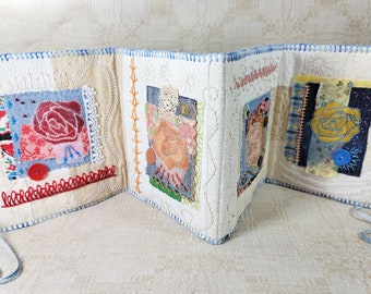 Blooming Rose Garden Beaded & Embroidered Textile Artist Book