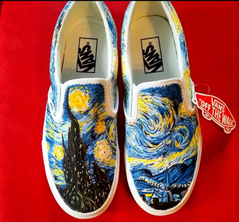 34813f004e Custom Painted Vans Slip-Ons