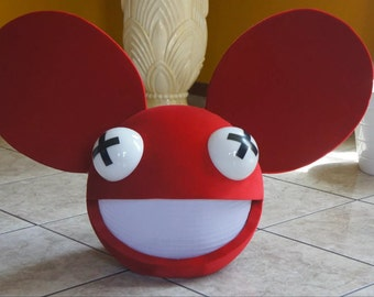deadmau5 head color red with lights and wireless remote control halloween costume