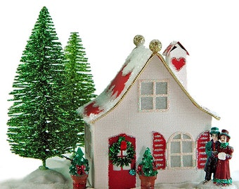 Christmas Village Houses Etsy