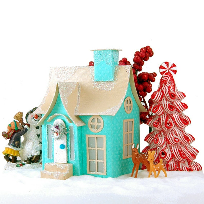 Quinn Miniature Christmas Village Cottage Pdf Pattern Etsy