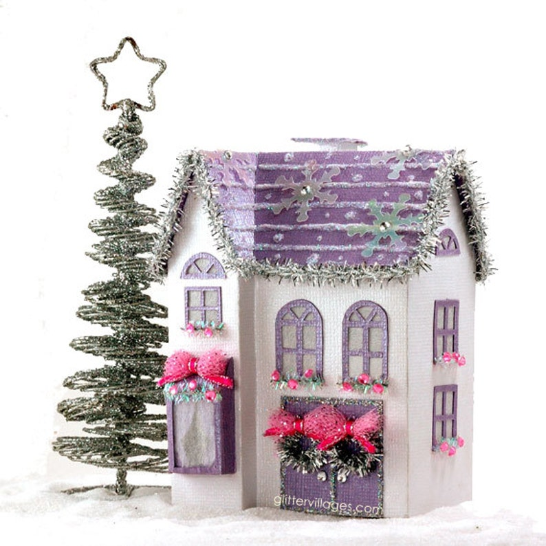 image regarding Printable Christmas Village Template identified as The Anastasia - A Miniature Xmas Village Space PDF Template in direction of Generate and Beautify with Paper