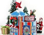 Miniature Christmas Village Toy Store PDF Pattern