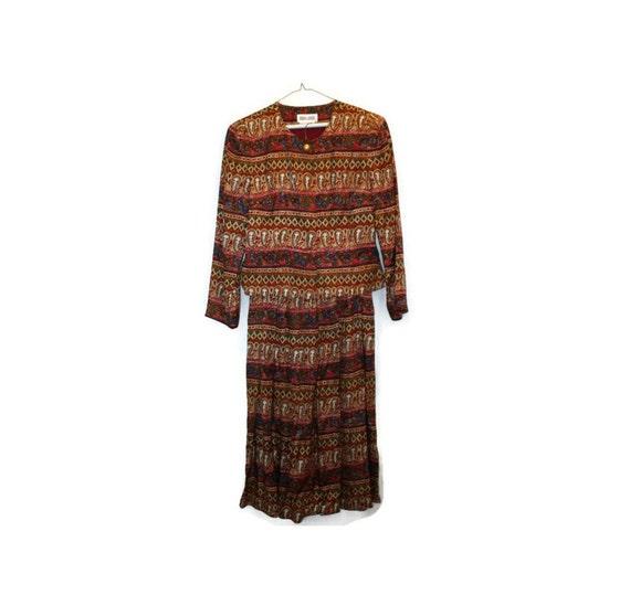 Vintage Maggy London Silk Suit