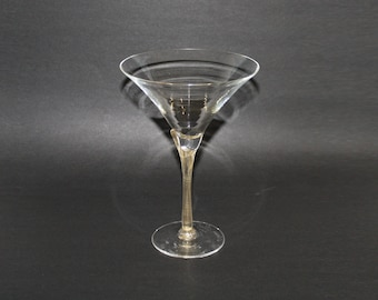 Signed Guy Corrie 2001 Union Street Glass Company Blown Art Glass Extra Extra Large Cocktail Glass with Embedded Gold and Foliate Stem