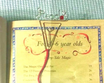 Personalized Bookmark, Wire Name Bookmark, Custom bookmark, Graduation Gift, First Communion Gift, Birthday Gift, Mother's day Gift