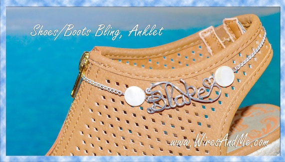 Shoes Bling, Boots Bling, Anklet name - any name you want