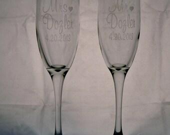 Toasting Flutes (pair)