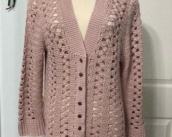 Crocus lace crochet cardigan