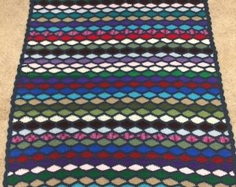 Crochet waves blanket/throw