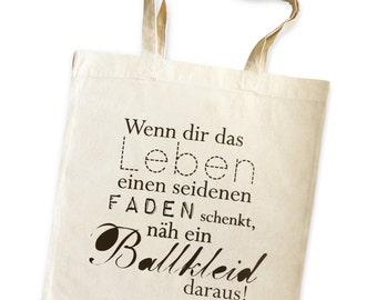 cute as a button - Ballkleid (ball gown) - tote bag