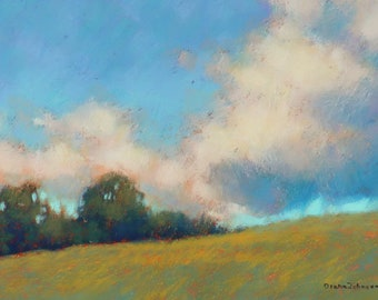 Art. Maine Art. New Gloucester, Maine painting. Original art. Landscape painting.Original painting. Pastel Painting. Enjoy gifts of Maine!