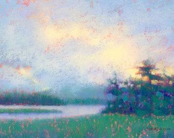 Art. Maine Art. Bass Harbor. Maine painting. Original art. Landscape painting.Original painting. Pastel Painting. Enjoy gifts of Maine!