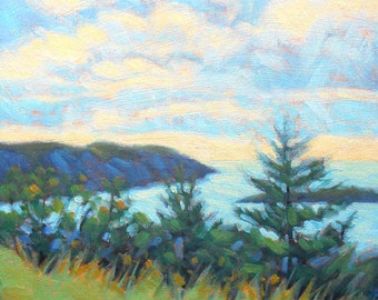 Art. Oil Painting. Landscape. Maine Art. Monhegan. Maine painting. Original art. Landscape painting.Original painting. Enjoy gifts of Maine!
