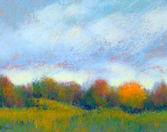Art. Maine Art. Falmouth. Maine painting. Original art. Landscape painting. Original painting. Pastel painting. Enjoy gifts of Maine!