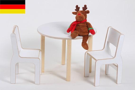 kindertisch theo 2 kinderst hle ben in weiss f r das etsy. Black Bedroom Furniture Sets. Home Design Ideas