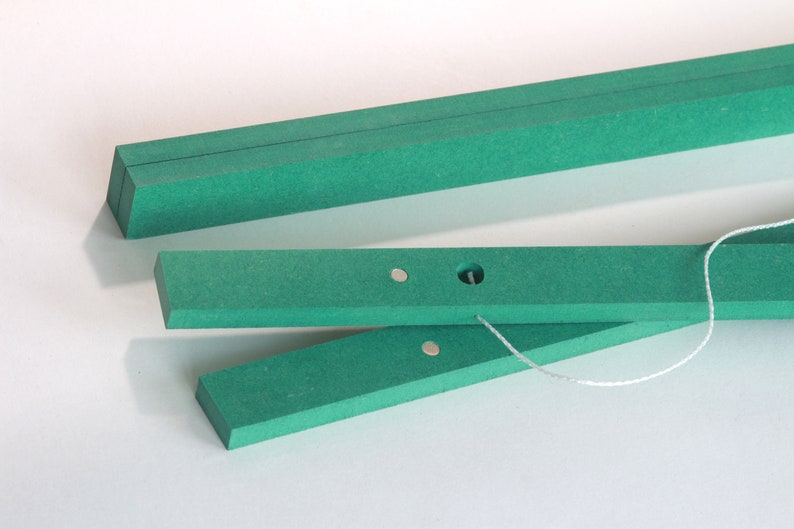 Green poster bar 84 cm A 0 magnetic gift with magnets wooden image 0