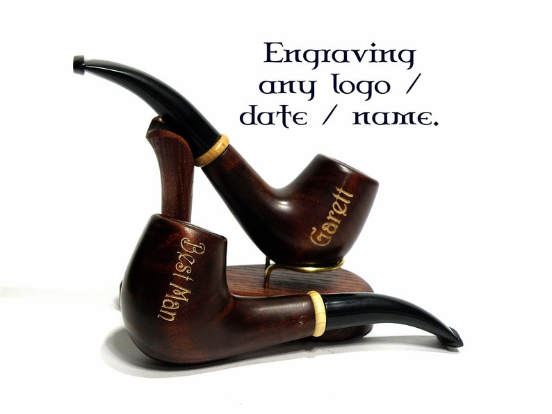 Smoking Tobacco pipe Personalized gifts Wooden Pipes Groomsman gift Pipes  for Smoking Pipe Tobacco Wedding gift Best Man gift