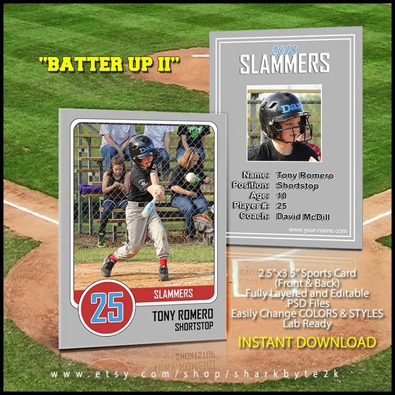 2018 Baseball Card Template Perfect For Trading Cards