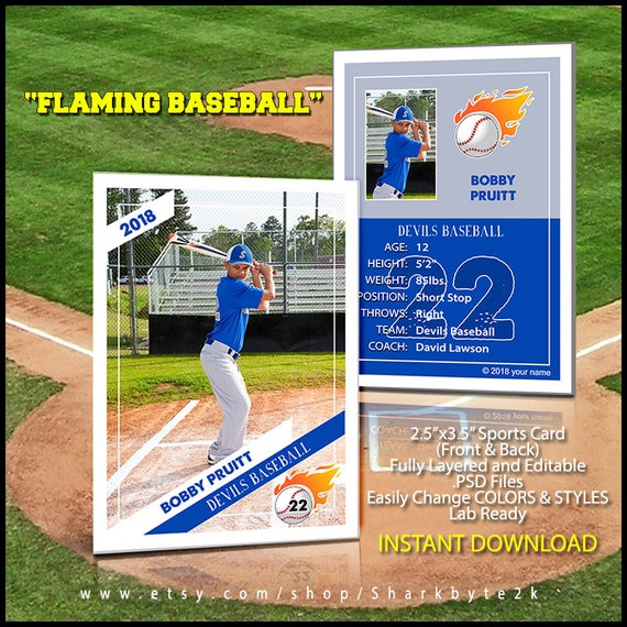 2017 Baseball Card Template. Perfect for trading cards for