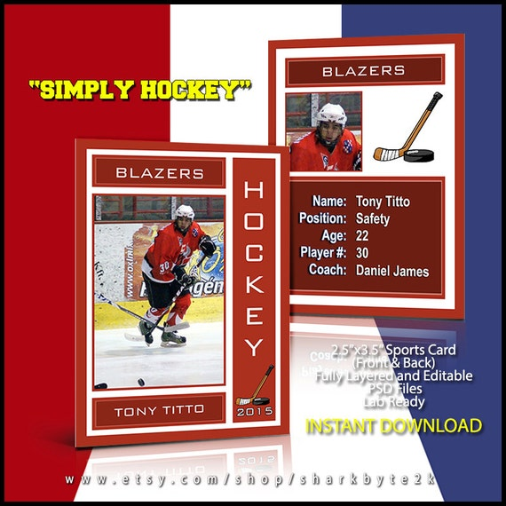 2019 hockey lacrosse sports trader trading card template. Black Bedroom Furniture Sets. Home Design Ideas