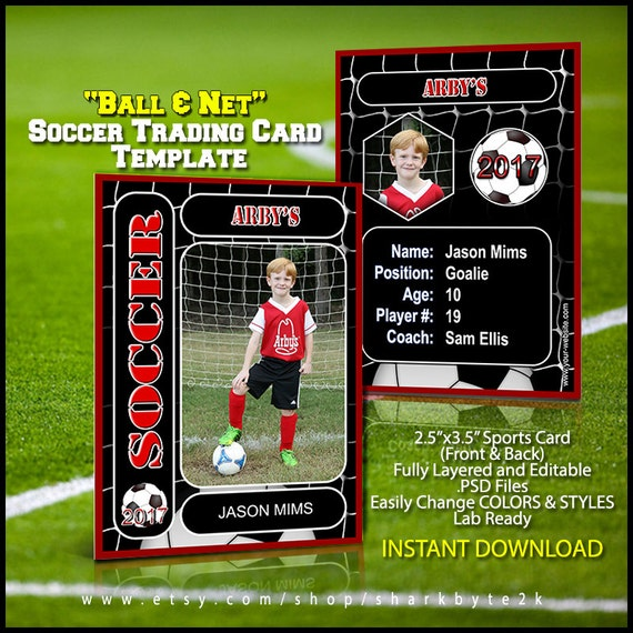 soccer player profile template download